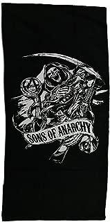 Zeckos Sons of Anarchy Black & White SOA Reaper Beach Towel 28 x 58 inch