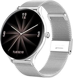 smartwatch dotykowy na pełnym ekranie damski inteligentny zegarek wodoodporna bransoletka monitorowanie tętna monitorowani...