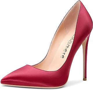 Womens Sky High Heels Basic Pumps Pointed Toe Stilettos 12CM Heel Shoes