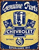 Desperate Enterprises Chevrolet Genuine Parts - Pistons Tin Sign, 12.5' W x 16' H