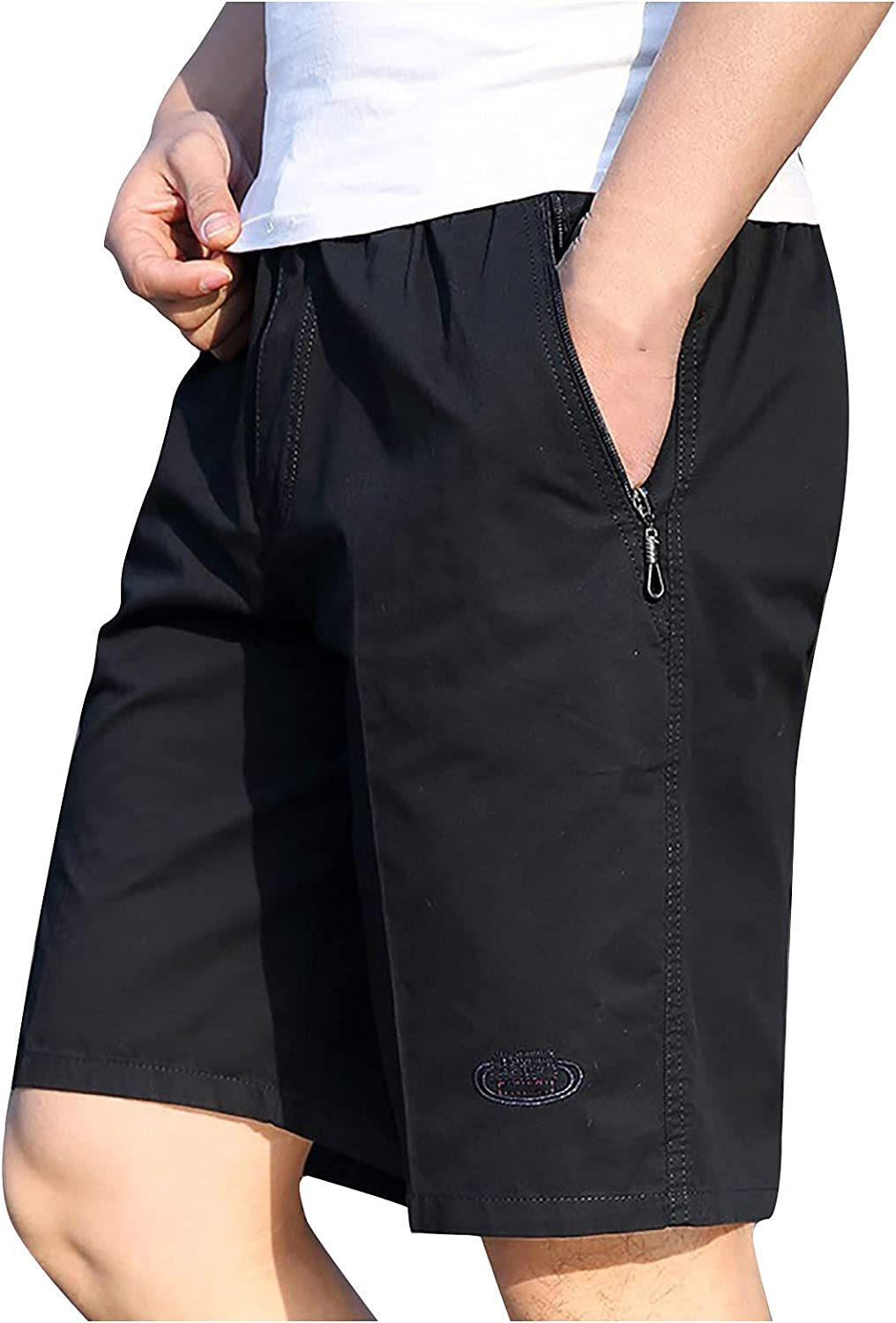 Men's Cargo Shorts Summer Solid Leisure Multi-Pocket Overalls Shorts Outdoor Workout Shorts FLA Front Shorts 7