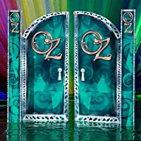 Emerald City グランドエントランスパネル 写真ブース小道具 背景幕 パーティー装飾 シーンセッター 段ボール切り抜き