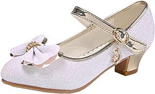 cf39cbd4aa381 Scothen Princesse Chaussures Paragraphe Fille Costume Ballerine Chaussures-Bow  Paillettes Carnaval Festive pour Enfants Ballerines