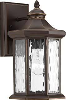 Progress Lighting P6071-20 Traditional One Light Wall Lantern from Edition Collection Dark Finish, Antique Bronze