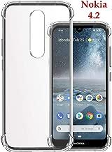 Jkobi Silicon Flexible Shockproof Corner TPU Back Case Cover For Nokia 4.2 -Transparent