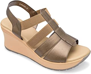tresmode Women's Champagn Fashion Wedge Sandals