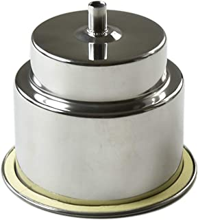 MARINE CITY Flush Recessed 316 Stainless_Steel Drink Holder with 3/8 Inches Drain Tube