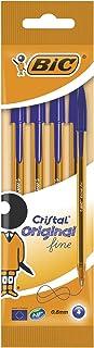 أقلام حبر جاف كريستال أوريجينال فاخر من بيك باللون الأزرق (عبوة بها 4 اقلام)