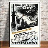 wojinbao Sin Marco Hot Champion World Grand Prix Retro Monaco 64th Motor Car Poster Wall Art Canvas Picture ng para la habitación Decoración para el hogar 40x60cm