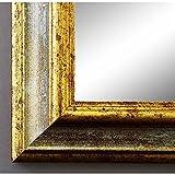Artecentro Cornice Dorata per Quadri - Oro/Colore con o Senza passepartout in Legno-Varie Misure (Oro/Avorio, 40x50)