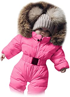 Infant Baby Winter Coat Jacket Toddler Grils Boys Outdoor Hoodie Casual Thick Warm Windproof Snowsuit Clothes Suitable for 1-7Y Simpleee