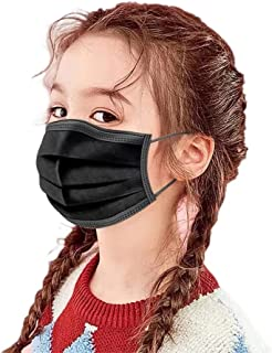 Kids Face Mask Disposable 3 Ply 100 PCS Ages 4-12 Children Size Breathable Toddler Boys Girls Mouth Cover Face Masks with ...