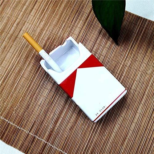 jiangyanyiliao Cenicero Creativo para Cigarrillos, con Forma de cenicero, para Fumar al Aire Libre, de cerámica, Style1