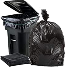 """Plasticplace 95-96 Gallon Garbage Can Liners │ 1.5 Mil │ Black Heavy Duty Trash Bags │ 61"""" X 68"""" (50Count)"""