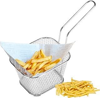 Stainless Steel Fries Basket Frying Net Square Block Mesh Kitchen  Mini Tools SH