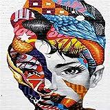 Geiqianjiumai Leinwand malerei wandkunst Rahmen Farbdruck auf leinwand Frau wohnkultur Wand Poster...