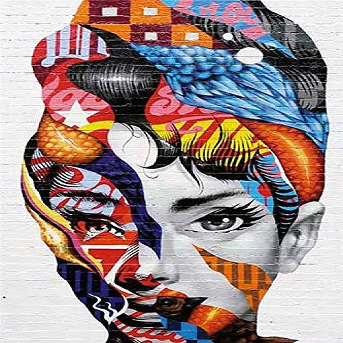 Geiqianjiumai Canvas schilderij muur kunst frame kleur print vrouw op het doek home decor muur poster woonkamer frameless