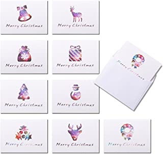 Small Assorted Christmas Greeting Cards Blank Note Cards, 18 ct
