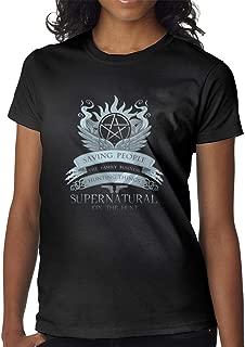Supernatural Saving People Hunting Things Women's Beautiful Short-Sleeved T-Shirt Fashion T-Shirt Clothes