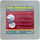 """Small Wool Pressing Mat for Quilting 9"""" x 9"""" - 100% Felted Wool Ironing Pad for Quilter by Savina - Travel Size - Perfect Gifts for Sewing, Embroidery & DIY Crafts. steam irons Jan, 2021"""