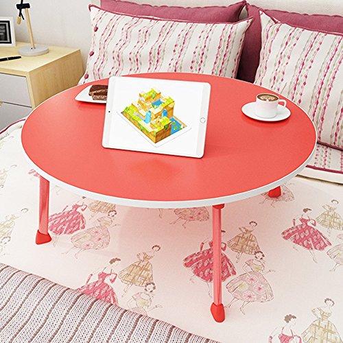 GYH zhuozi LJHA Bureau d'ordinateur Se Pliant/Table Pliante Ronde/Bureau/Table à Manger pour Enfants / 60 * 60 * 28CM Table (Couleur : Rouge)