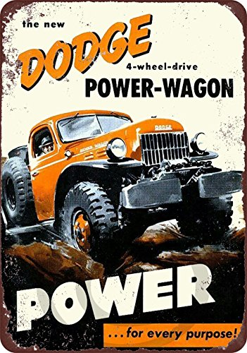 Custom Kraze Dodge Power-Wagon 4 Wheel Drive Reproduction Metal Sign 8 x 12