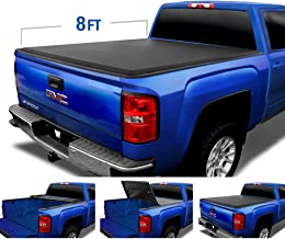 Tyger Auto (Soft Top T3 Tri-Fold Truck Tonneau Cover TG-BC3C1005 Works with 2007-2014 Chevy Silverado/GMC Sierra 1500 2500 3500 HD | Excl. 07 Classic | Fleetside 8' Bed | Without Utility Track