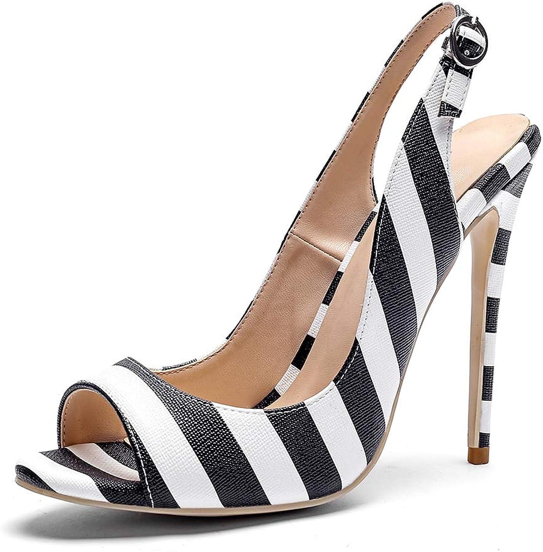 HOESCZS Nagelneu Plus größe 34-43 34-43 34-43 Beste Qualität Peep Toe dünne High Heels Frauen Sandalen Frau Schuhe Sommer Sandalen Schuhe Frau,  ff00fb