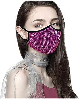 Doad ReusableHalloween Masquerade Rhinestone Crystals Masks for Women Kunoichi Masque
