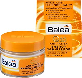 German Balea Day Cream Q10 Anti-Wrinkle Energy 24h Care, 50 ml