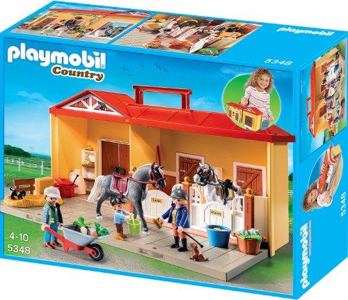 Playmobil 5348 - Mein Pferdestall zum Mitnehmen, Aufklapp-Spiel-Box