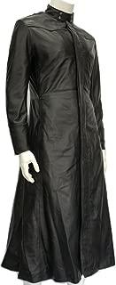 Men's PU Leather Gothic Steampunk Matrix Neo Long Coat