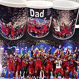 Fathers Day Gift LFC Liverpool championship Winners Personalised Football Gift Mug 6 Cup Winners 2019 fathers day gift