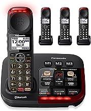 $289 » Panasonic KX-TGM430B + (3) KX-TGMA44B Noise Reduction Link to Cell Volume Boost Control Talking Caller ID Amplified Cordle...