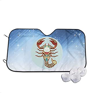 Haosufu Windshield Sunshade Automotive Window Sun Shade Car Truck SUV Sedans Vehicle Heat Front Protector Keep Cool Lobster