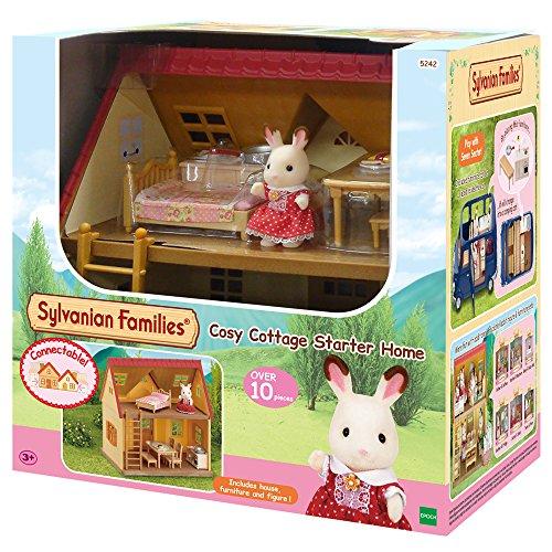 Sylvanian Families 5242 Cosy Cottage Starter Home Mini Muñecas y Accesorios, Multicolor