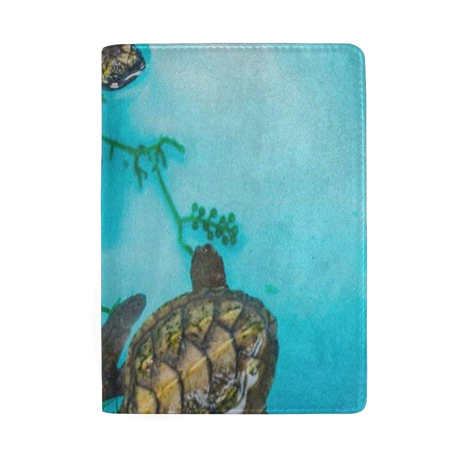 Passport Holder Old Sea Turtle Blue Water Passport Cover Case Wallet Card Storage Organizer for Men Women Kids