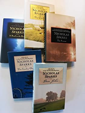 Set of 5 Nicholas Spark Romance Novels: A Bend in the Road, The Rescue, Dear John, The choice, and the Lucky One