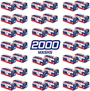 2000-Count Disposable 3-Layer Face Masks