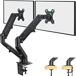 HEYMIX Dual Monitor Arm, Adjustable Computer Monitor Stand, Gas Spring Swivel Monitor Arm VESA Mount with 2-Grommet Mounti...