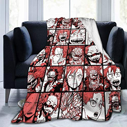 "After80-90 My Hero Academia Throw Blanket Eijiro Kirishima Collage Anime Flannel Ultra-Soft Micro Fleece Blanket Luxury Sofa Blanket Office Blanket Adult Youth Children Bedding 50""x40"""