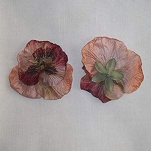 """Silk Flower Arrangements 4.0"""" Large Pansy Artificial Silk Flower (2)"""