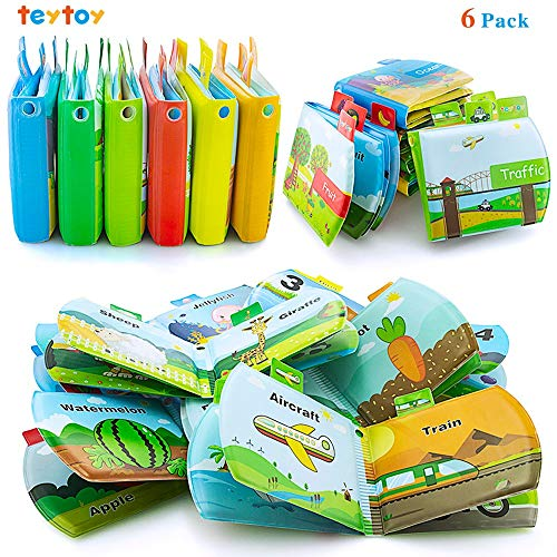 teytoy Baby Bath Books, Bath Toys Bathing Waterproof Animal Digital Learning Books, Fun for Boys and Girls in Bath Time, Infant Books for Early Children Development