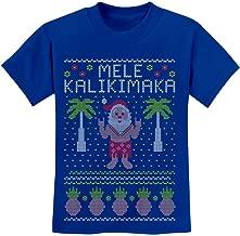 TeeStars - Mele Kalikimaka Hawaiian Santa Ugly Christmas Youth Kids T-Shirt