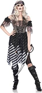 3PC. Ghost Pirate, tattered dress, arm puffs, head wrap