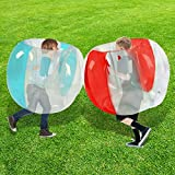 SUNSHINE-MALL Bumper Balls for Kids,Inflatable Buddy Bubble Balls Sumo Game,Giant Human Hamster Knocker Ball Body Zorb Ball for Child Outdoor Team Gaming Play for 3-12ages(red+Blue)