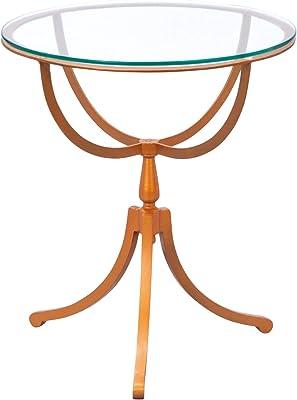 Links 85300413 Southport Table Métal , Couleur cuivre – Verre Cuivre 50x50x55 cm