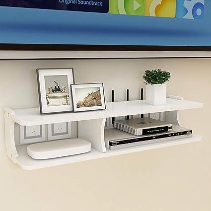 Mueble TV/estantería de Pared Consola de TV Soporte TV enrutador Set Top Box Estante de Almacenamiento Multimedia estantería de Pared de Fondo ...