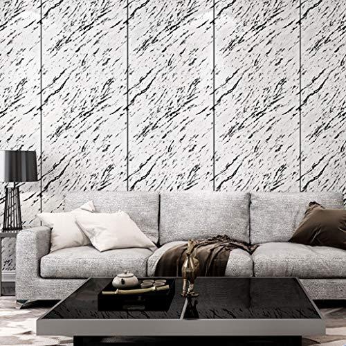 Papel Pintado Papel pintado imitación de mármol del azulejo del papel pintado simple 3D estéreo de PVC material ideal for el dormitorio del fondo del sofá TV de la sala de estar de papel de pared Fine