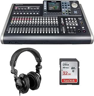 Tascam DP-24SD 24-Track Digital Portastudio with Polsen HPC-A30 Monitor Headphones & 32GB Memory Card Bundle